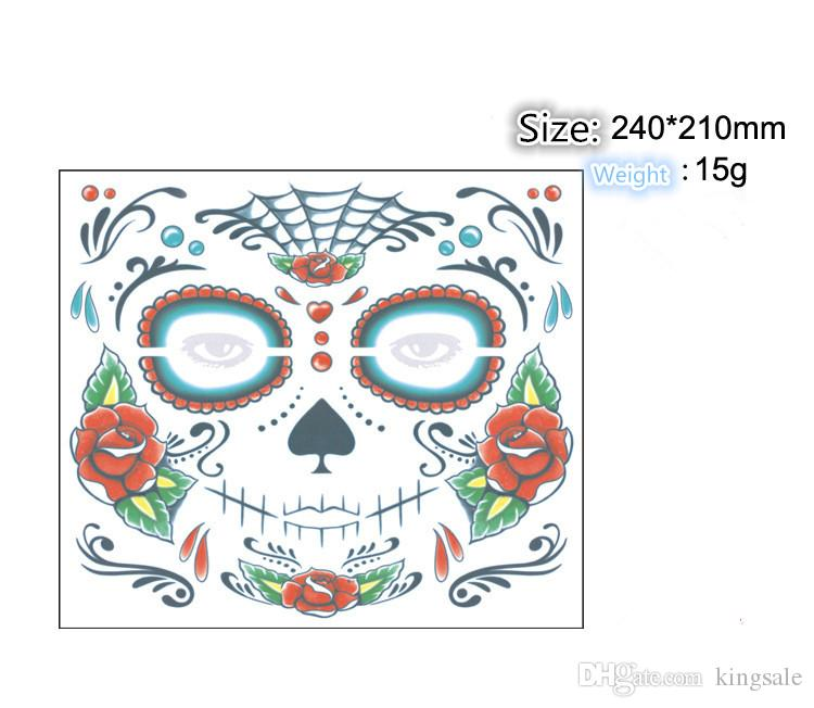 Christmas Toy Halloween Supplies Party waterproof faced tattoo and masquerade ball must sticker Novelty & Gag Toys DHL free