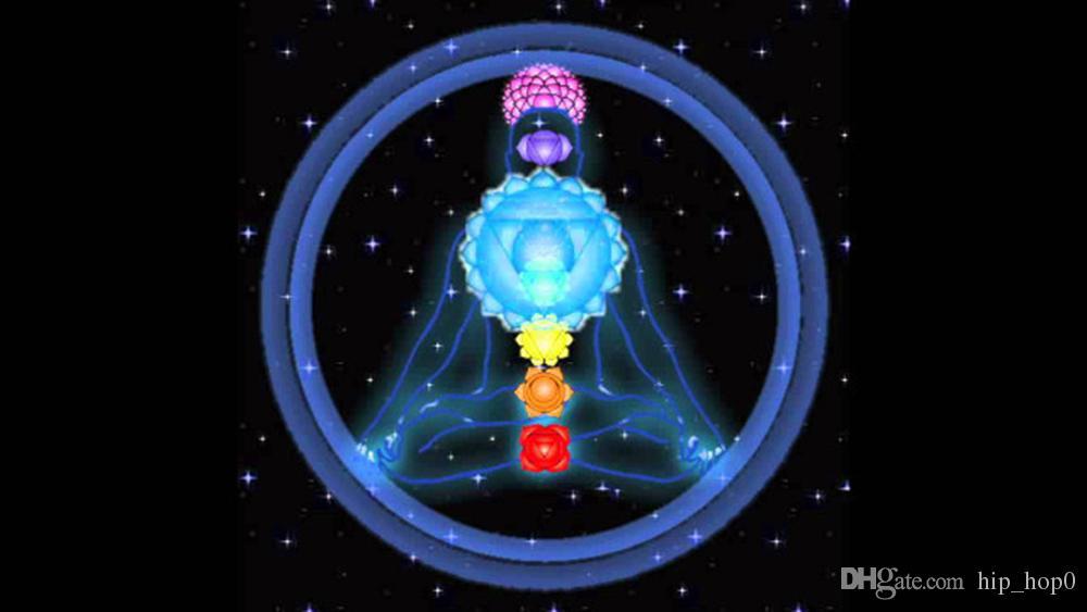 Pendentif en forme de coeur Sept perles pierres précieuses en quartz naturel Collier pendentif en pierre Yoga Point de guérison énergétique Chakra Reiki Jewelry