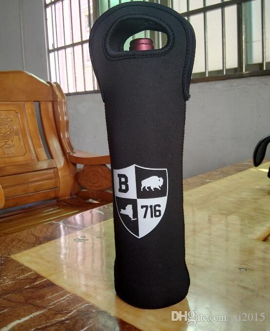 Personalized Beer Wine Glass Single Neoprene Bottle Cooler Sleeves Holder Cover Bag Water Bottle My Bottle 750ml+print