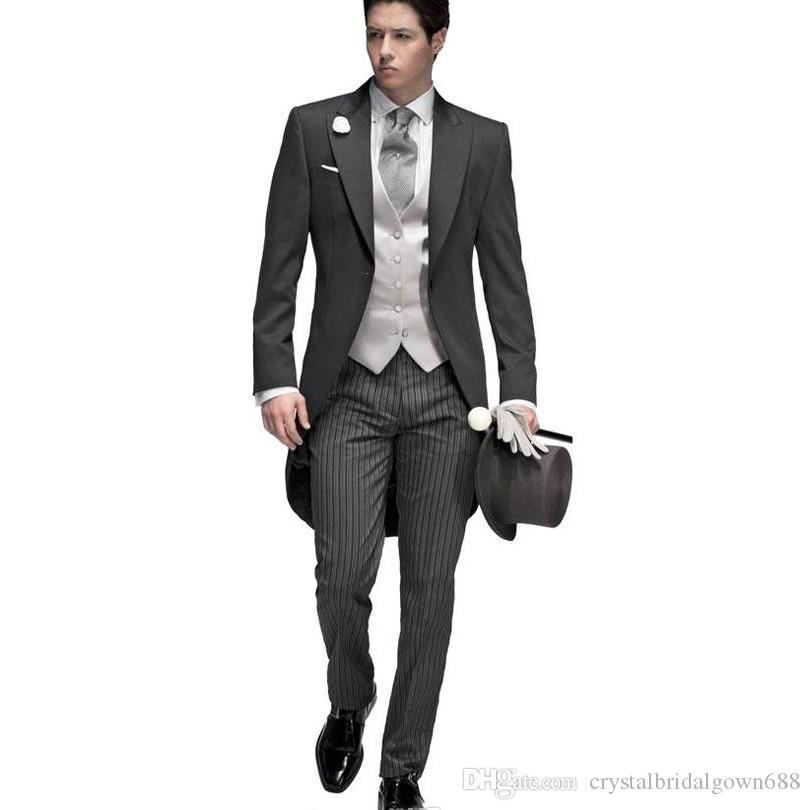 2017 tailored elegant bridegrom gray morning suit wedding tuxedo for 2017 tailored elegant bridegrom gray morning suit wedding tuxedo for mengroomwear suits set jacketpantsvest suit sales suit stores from junglespirit Image collections