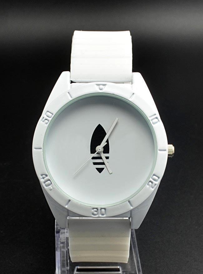 Fashion Women Men's Unisex 3 Leaves leaf Clover style Silicone Strap Analog Quartz Wrist watch AD03