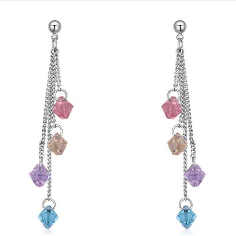 1c31c2c9b Fashion Wedding Earrings Jewelry For Women Water Droplets Crystal ...