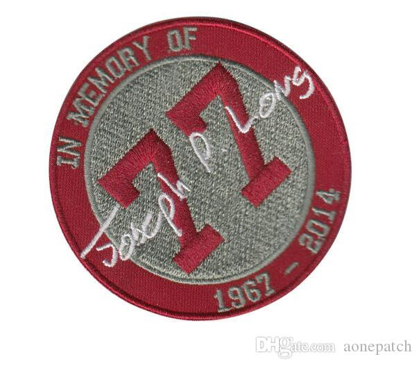IN MEMORY OF letters embroidery iron on patch for Jacket Jeans clothing badge fabric applique decoration patch