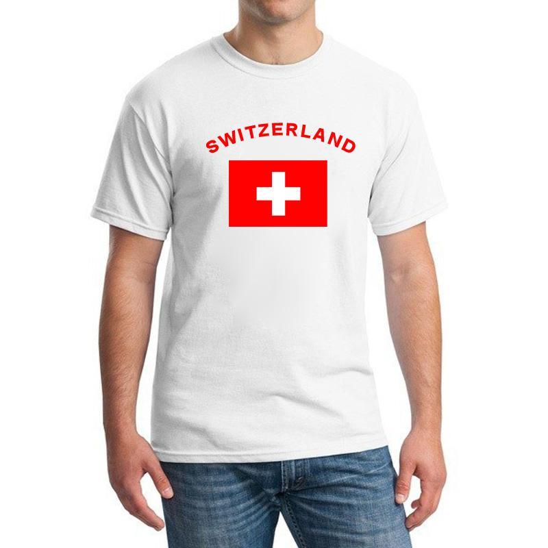 스위스 팬들 응원 티셔츠 2016 유럽 축구 스포츠 휘트니스 체육관 스위스 국기 축구 T 셔츠 남성용