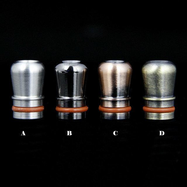 6 estilo de Aço Inoxidável 510 Ego drip tips ponta de gotejamento de metal ss bocal para atomizador tanque e cig rda rba vape