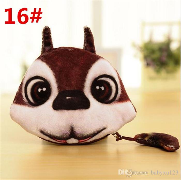 3D Printer Cat face Cat dog with tail Coin Purse Bag Wallet Girls Clutch Purses Change Purse cartoon handbag D642