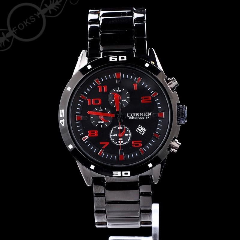 高級ゴールデンメンズアナログドレスギフト日時計ハンドカレンブランド男性クォーツ腕時計M8104ミックスモデルドロップ輸送bbwatch