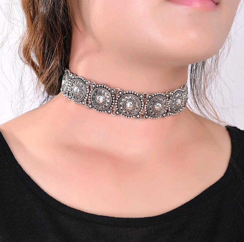 Bijoux de mode bohème style Choker Colliers collier pour femmes modèles européen et Carve Designs Chine grossistes Torques vente chaude