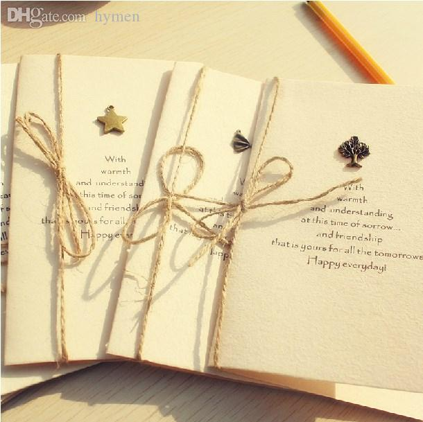 2018 Wholesale Zakka Metal Jewelry DIY Birthday Card Holiday Cards Paper Postcard Delivery Randomly From Hymen 1794