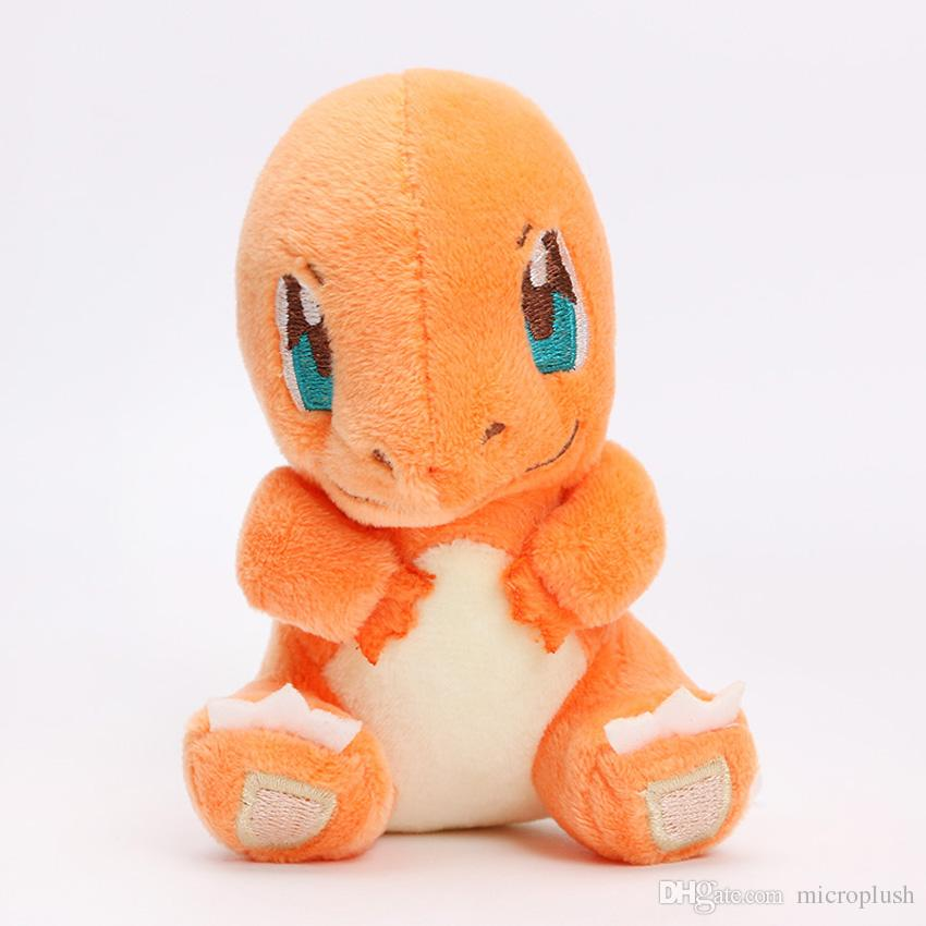 Pocket plush Bulbasaur Charmander Squirtle 12-14cm Newest Collectible Plush Toy Cute Stuffed Doll Kids Toy