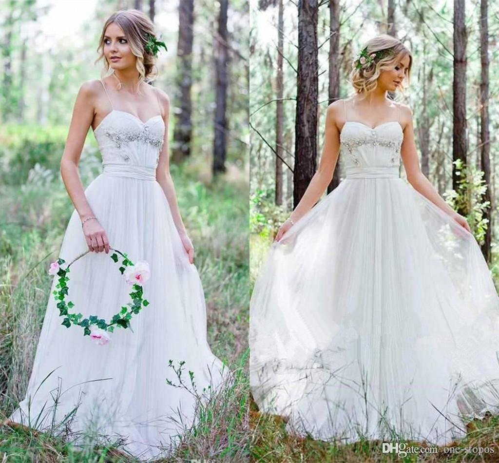Wedding Gowns Online Cheap: Discount 2017 Cheap Country Wedding Dresses A Line Chiffon
