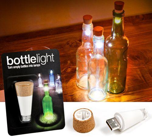 Originalidad Luz Corcho En forma recargable USB Luces de botella Botella Lámpara LED Tapón de corcho Botella de vino USB Luz de noche Fiesta de Navidad Luz de Navidad