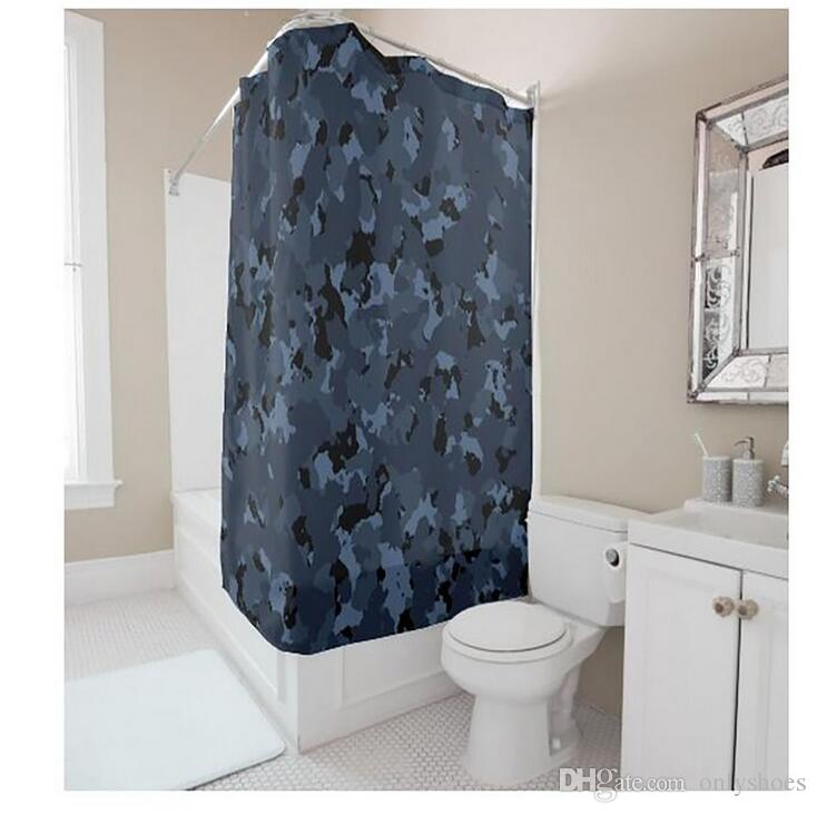 2019 Customs 36 48 60 66 72 W X H Inch Shower Curtain Dark Camo Waterproof Polyester Fabric DIY From Onlyshoes 2212