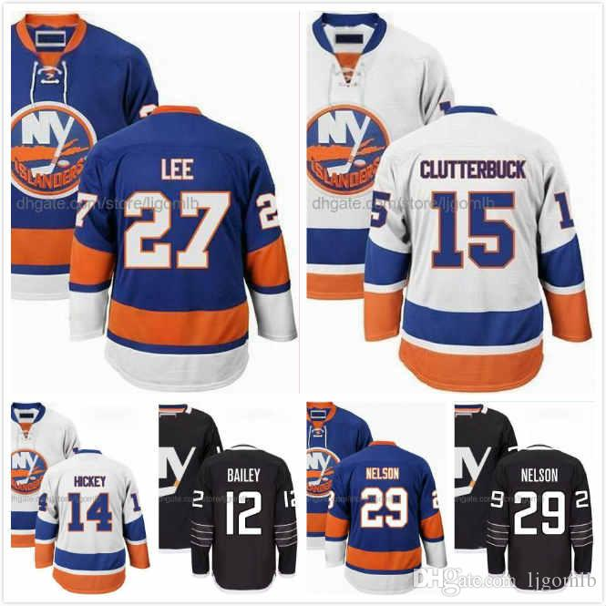 size 40 e2d98 f9782 Josh Bailey Jersey 12 Anders Lee 27 Brock Nelson 29 Thomas Hickey 14 Cal  Clutterbuck 15 Ice Hodkey Jerseys New York Islanders Stitched S-3XL