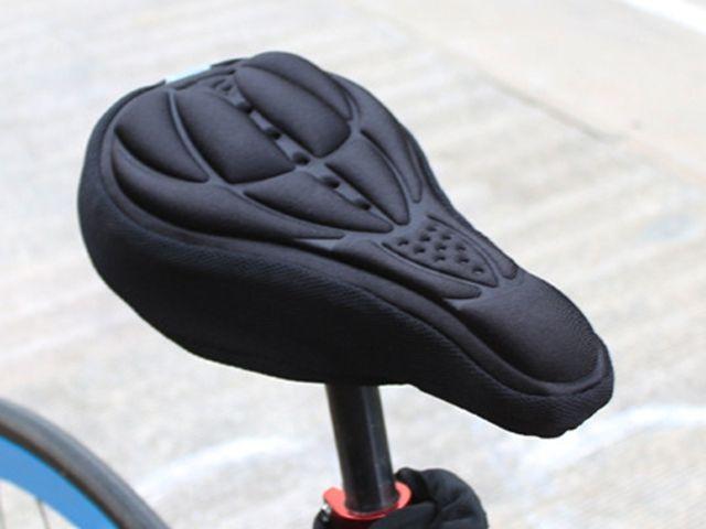 Frete grátis Ciclismo Bicicleta 3D Pad Assento Da Bicicleta Saddle Capa Macio Almofada Gel De Silicone Mais Grosso Capa de Almofada 3D