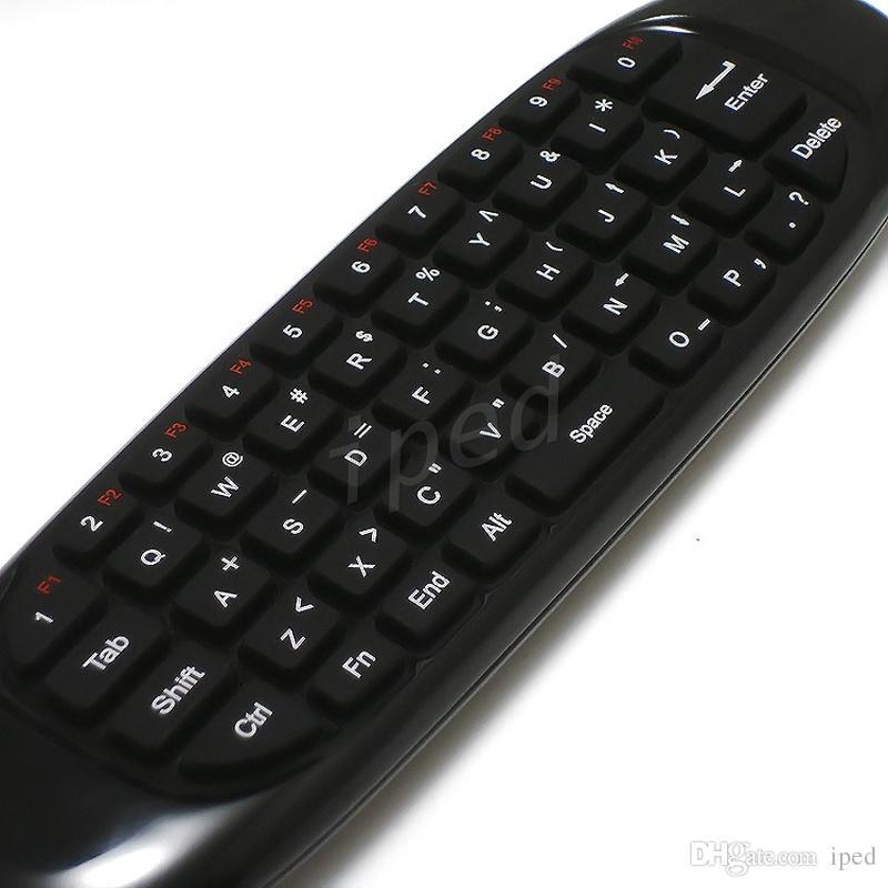 Clavier sans fil C120 Fly Air Mouse Télécommande Contrôleur de jeu pour Android TV Set Top Box Mini PC 6 Gyroscope Q3 boîte de détail
