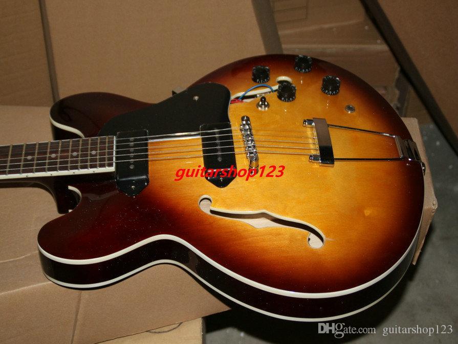 Chitarre Chitarre classiche Jazz Chitarra classica all'ingrosso Nuovo arrivo Sunburst Chitarra CALDO trasporto libero dalla Cina