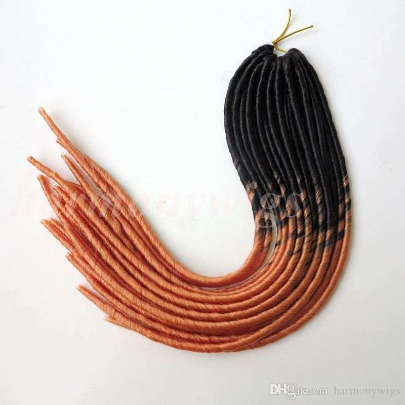 """Synthetic braiding hair 20"""" 95g 20strands/pack ombre color soft dreadlocks twist braids hair extensions more color optional"""