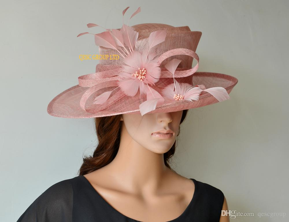 Blush Pink Sinamay Hat Formal Dress Hat Ladies Hat With