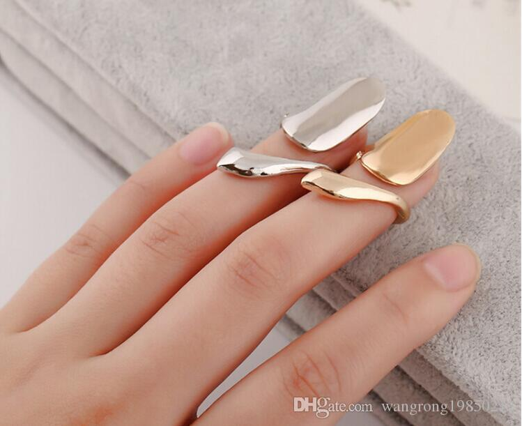 Delicate alloy texture fashion nail ring lengthening finger nail ring