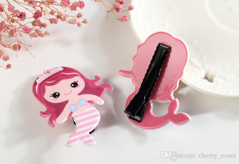 Pretty Gifts Mermaid Hair Clip Beauty Princess Baby Barrette Blonde Girl Toddler Hairpin Novelty Cartoon Girl Hair Pinch Grips A7400