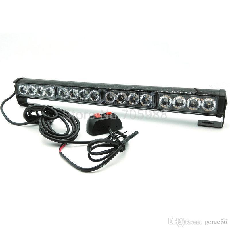 16 LED haute puissance lumière stroboscopique Pompier Feu clignotant Police d'urgence Avertissement voiture flash barre de CAMIONNETTE