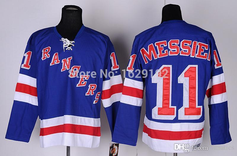 f666a2b67 2019 2016 Wholesale New York Rangers Ice Hockey Jerseys  11 Mark Messier  CCM Bule Home White Men S NY Rangers Authentic Jersey Cheap From Fanatics