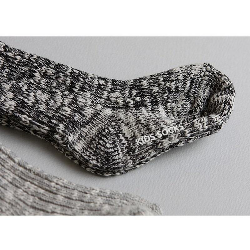 2016 Winter Warm Baby Kids Bodkin Autumn And Winter Thick Wool Flower Yarn Children Socks Baby Slip Socks