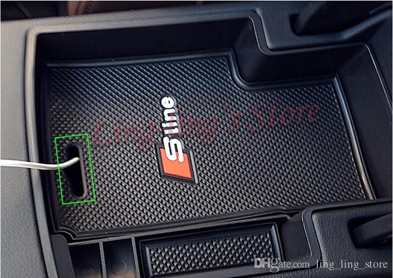Boîte de rangement de haute qualité voiture intérieur accoudoirs avec tapis Sline pièces de rechange pour Audi A4 B8 nouveau A4L 09-15 A5 style de voiture