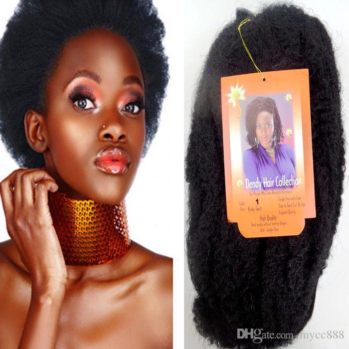 2018 Synthetic Braiding Hair Extension Bulk Dark Brown Hair Kinky