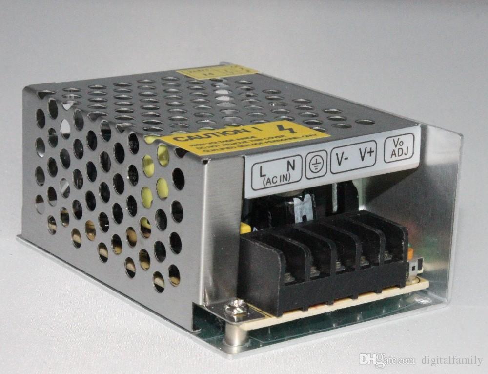 1 stks Hoge kwaliteit 12V 2A DC 24W Universele gereguleerde schakelvoeding 12V LED-stuurprogramma voor 3528 LED-strip Universeel gereguleerd