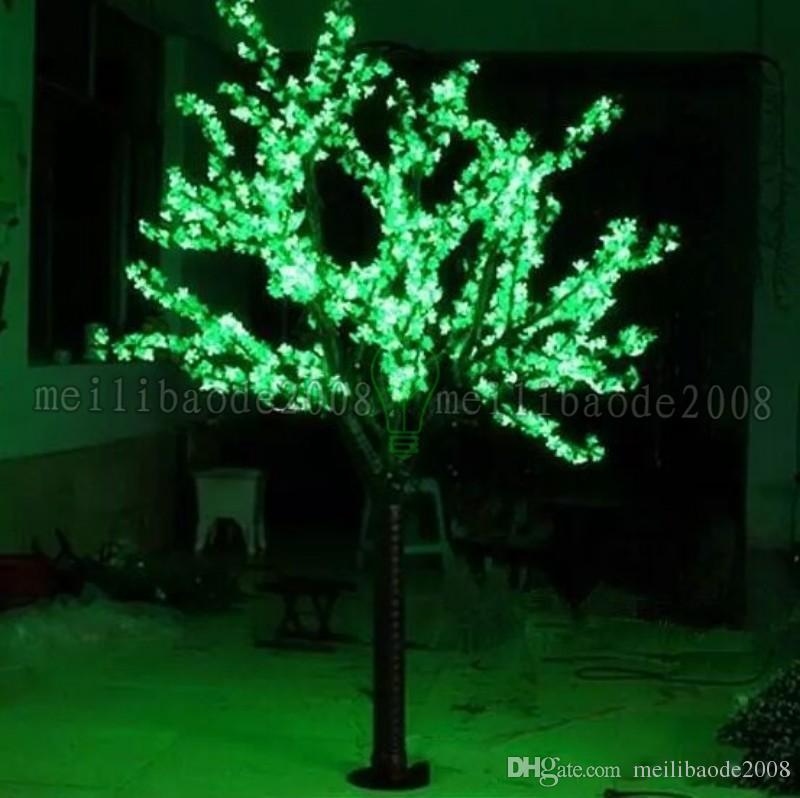 LED LED Artificial árbol de la flor de luz Luz de Navidad Bulbos 2m / 6.5 pies de altura 110 / 220VAC al aire libre impermeable Uso gratuito de envío MI