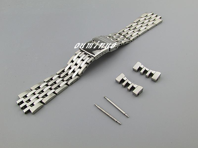 22mm Yeni Yüksek kaliteli SS Cilalama + Breitling İzlemek İçin Eğimli sonu İzle Gruplar bilezikleri fırçalanmış