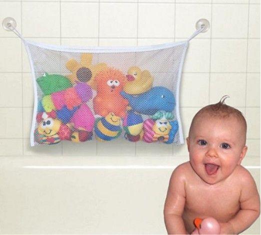Creative Folding Eco-Friendly Baby Bathroom Mesh Bath Toy Storage Bag Net Suction Cup Baskets