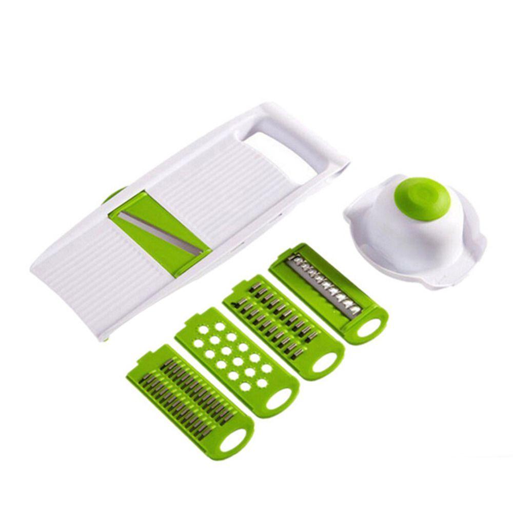 5 in 1 Multi-function Plastic Vegetable Fruit Slicers Cutter Adjustable Stainless Steel Blades ABS Peeler Grater Slicer