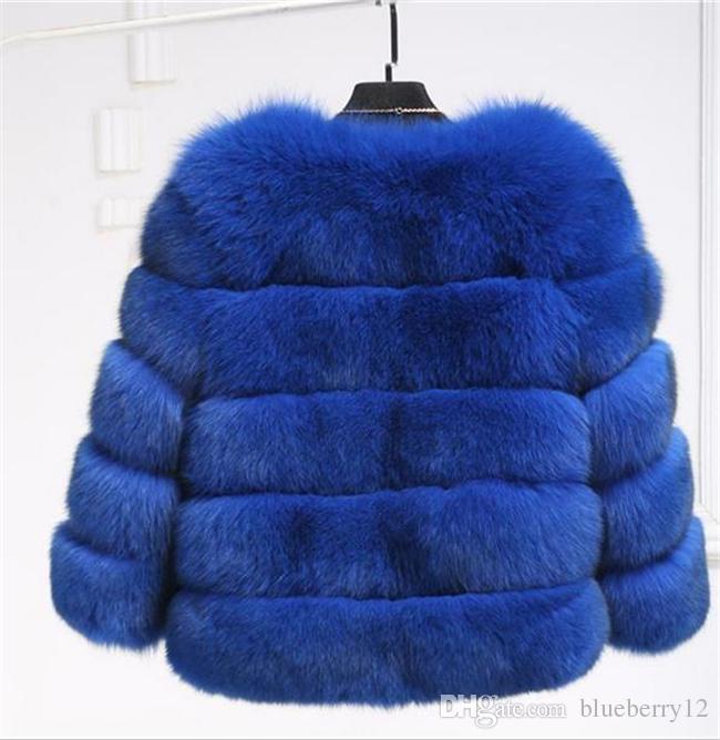 Gute Qualität neue Art und Weise Luxus Fox-Pelz-Weste-Frauen-kurz-Winter-warme Jacken-Mantel Weste Variety Farbe für Wahl