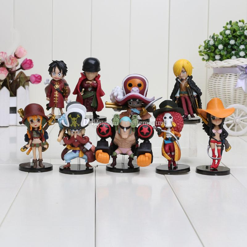 9pcs/set Anime One Piece Action Figures Cut One Piece Film Z Mini Figure Toys Dolls approx 8CM