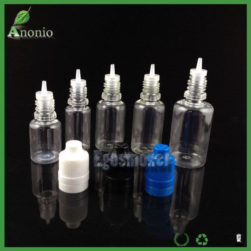 10ml Bottle PET E Liquid Ejuice Eliquid Bottles Plastic Dropper 10ml Empty Bottles With Child Proof Tamper Evident Cap Long Needle Tip
