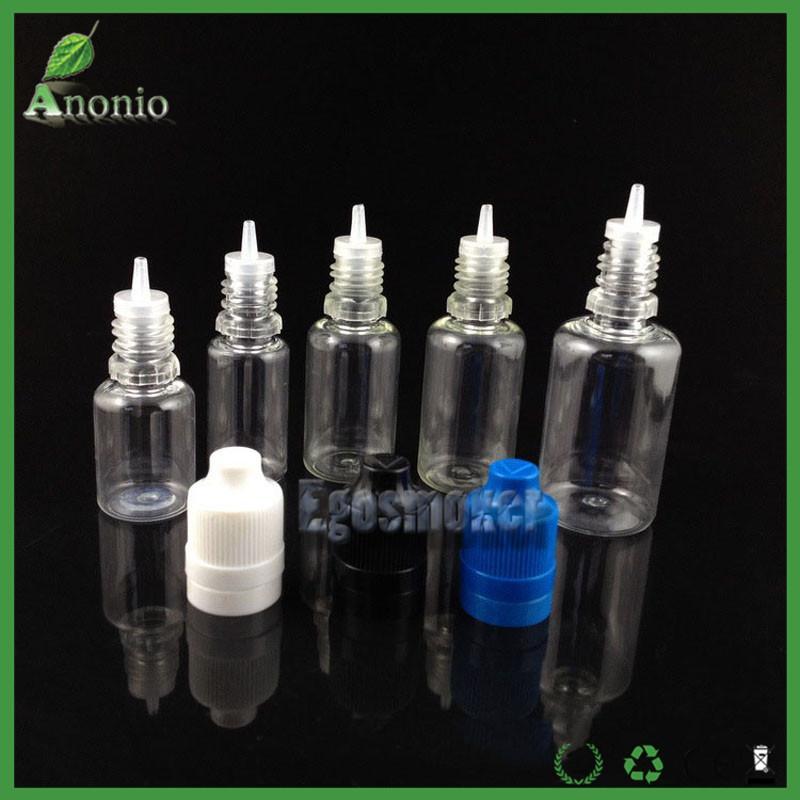 E زجاجات السائل PE EJuice العبث زجاجات من البلاستيك PET القطارة زجاجة 10ML من أجل قبعات الطفل والدليل على زجاجات فارغة E- السائل النفط