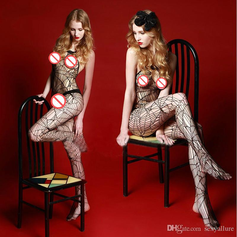 982b2086784 Women Hot Sexy Lingerie Porn Bodysuit Lace Bow Erotic Underwear Crotchless  Siamese Fishnet Lingerie Sexy Bodystocking Open Crotch Sheer Onesie Sexy ...