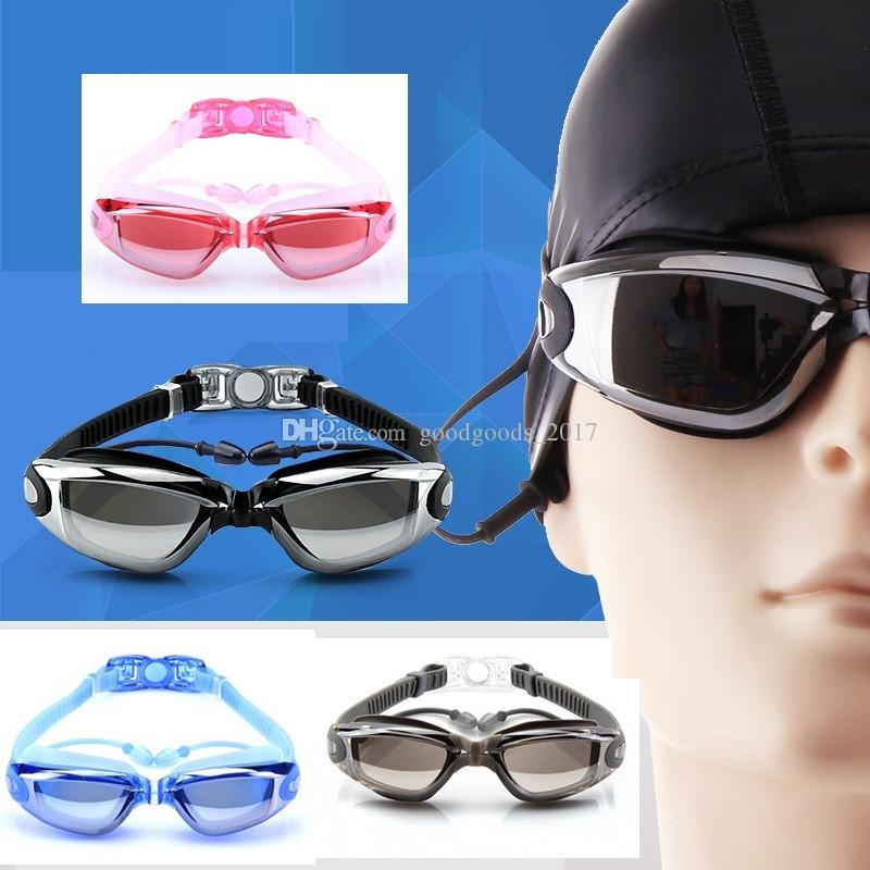 10397f119eec 2019 Swimming Tools Swim Goggles Glasses Men And Women Water Goggles Water  Sports Beach Swimming Glasses Leisure Electroplate With Earplugs M960 From  ...