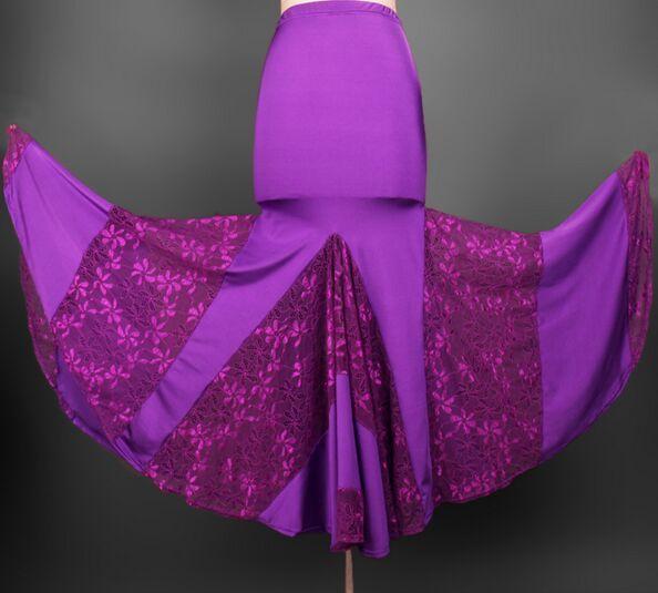 2018 Nouvelle Danse Moderne Jupe Tango Robes De Danse Concours Ballroom Dance Robe De Danse Latine Danse De Jupes Pratique Dancewear Jupe
