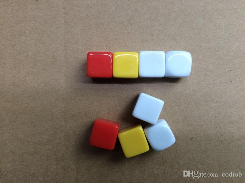 14 мм Разноцветные Пустые Кубики Квадратный Угол Гравировка 6-сторонние Кости Акриловые DIY Развивающие Игры в Кости Забавные Игрушки Хорошая Цена Высокое Качество # B42