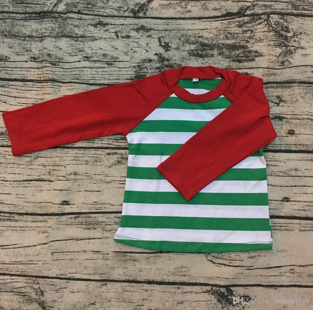 Großhandel Weihnachten Kinder Jungen Feste Rote Raglan Langarm Mit ...