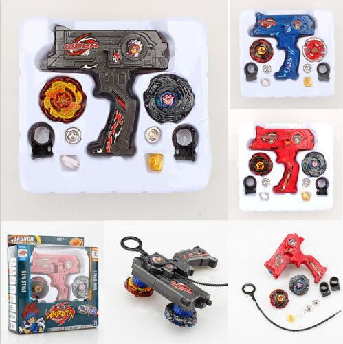 Fusion Top Metal Master Rapidity Fight Rare Beyblade 4D Launcher Grip Toy Sets