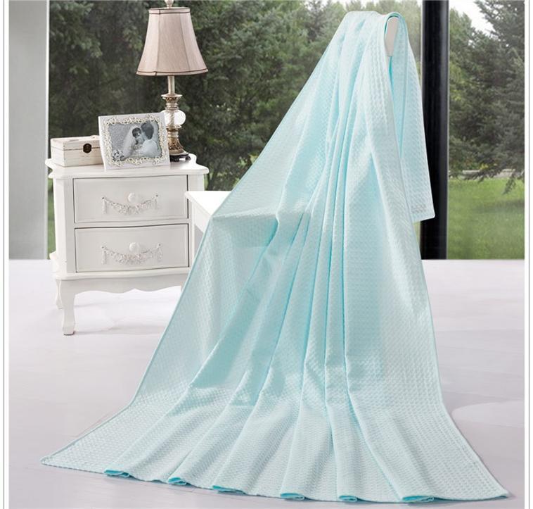 adultos lance fio manta de algodão toalha cobertor de verão azul rosa dobro do tamanho único vermelho