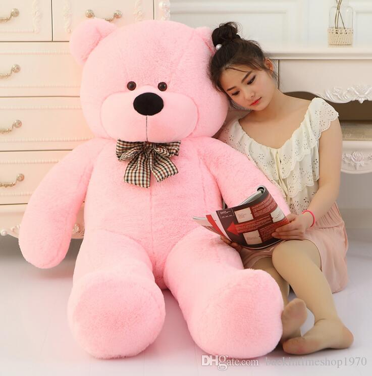 Big Sale riesigen Teddybär 160cm 180cm 200cm Lebensgröße große riesige große Plüsch Stofftier Puppen Mädchen Geburtstag Valentinstag Geschenk