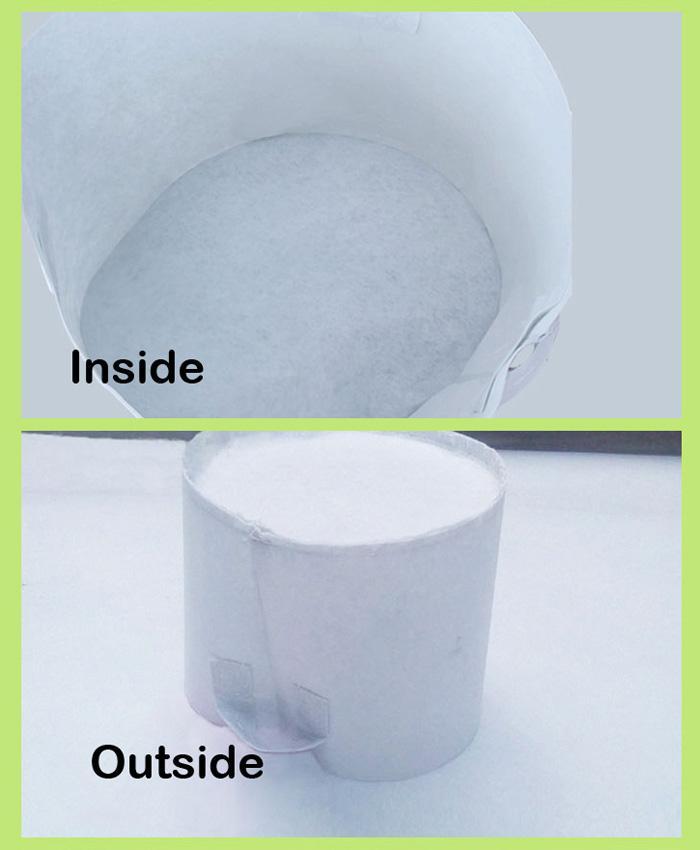 Blanc non-tissé en tissu réutilisable Soft-Sided Hautement respirant grandir Pots Planteur Sac avec poignées à bas prix Grande fleur 10 Taille Option