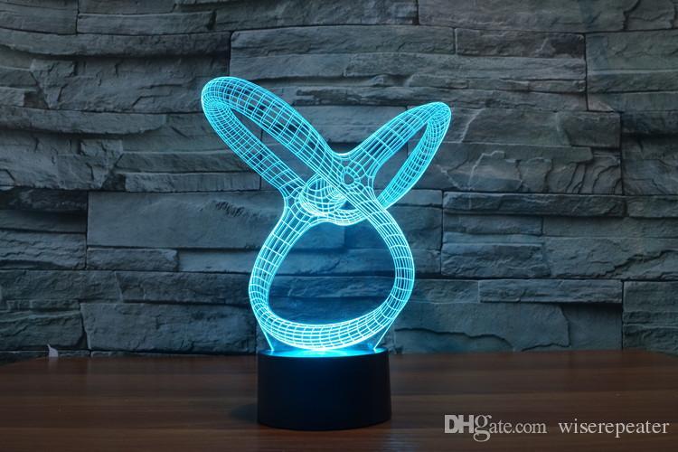 2016 Riepilogo Nuovo 3D di notte della lampada ottica di notte della luce 9 LED Night Light DC 5V fabbrica WholesaleEiffel Towe