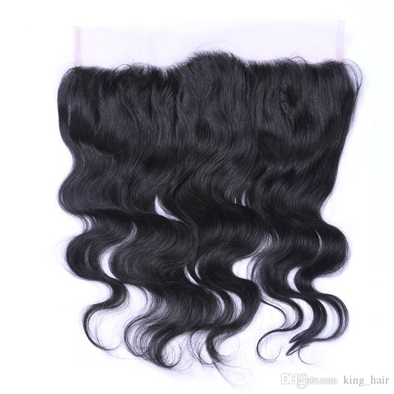 13*4 Free Part Silk Base Ear To Ear Lace Frontal With Body Wave Virgin Human Hair Bundles Cheap Price